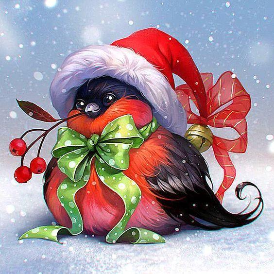 Открытки со снегирями к новому году, кошками котятами