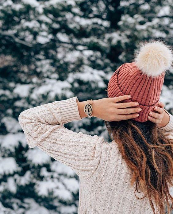 Зимние фотки на аватарку для девушек и девочек - коллекция 8