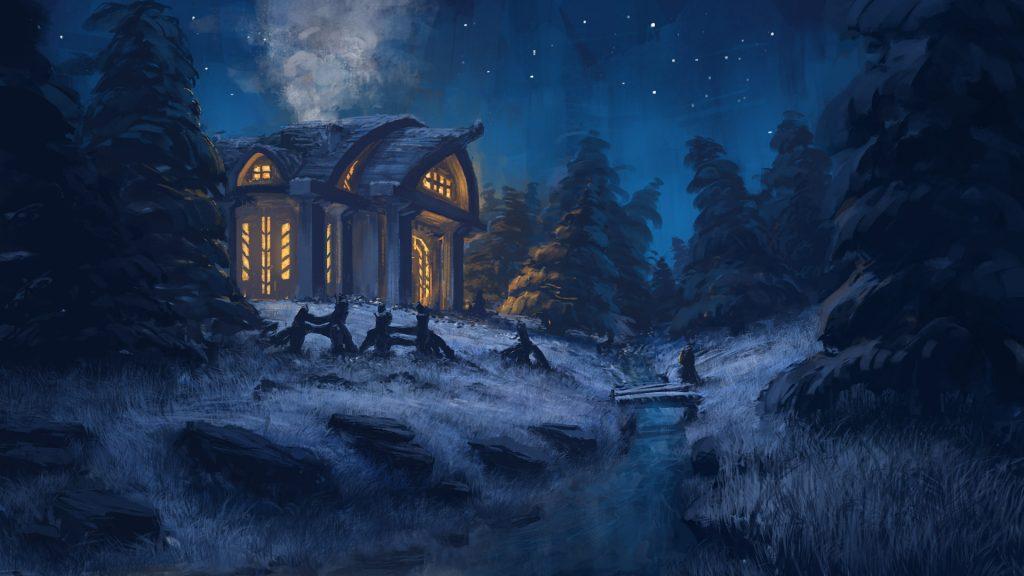 Зимняя ночь картинки красивые и удивительные - подборка 20 фото 11