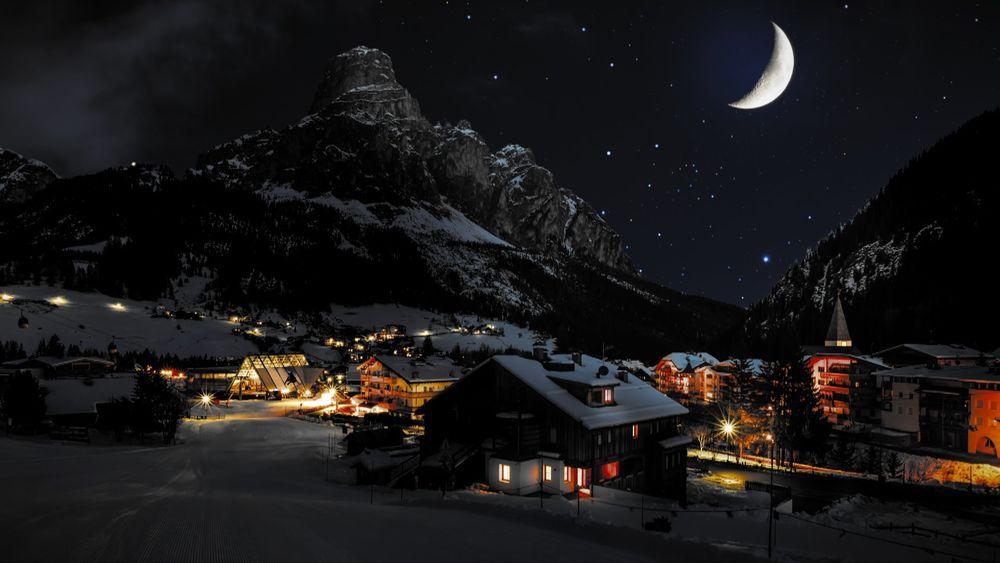 Зимняя ночь картинки красивые и удивительные - подборка 20 фото 15