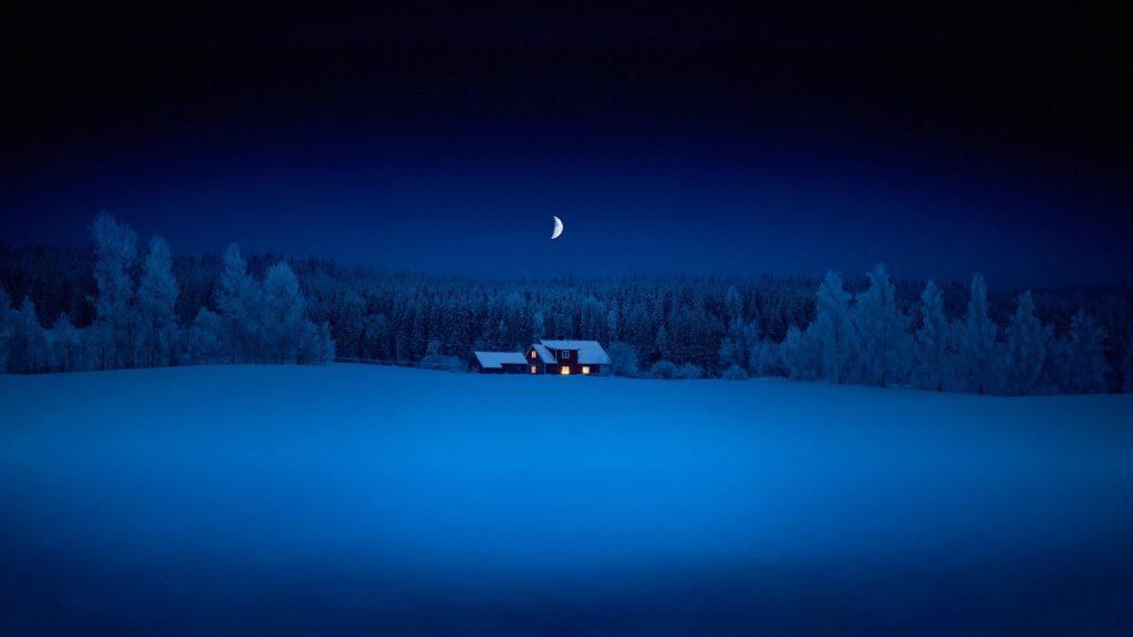 Зимняя ночь картинки красивые и удивительные - подборка 20 фото 19