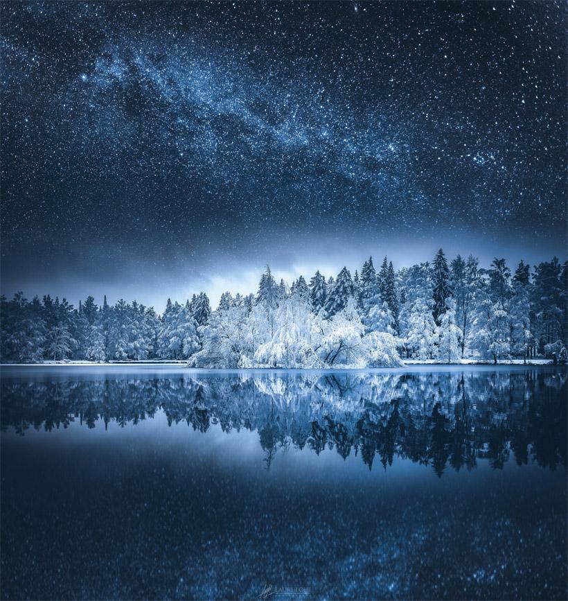 Зимняя ночь картинки красивые и удивительные - подборка 20 фото 20