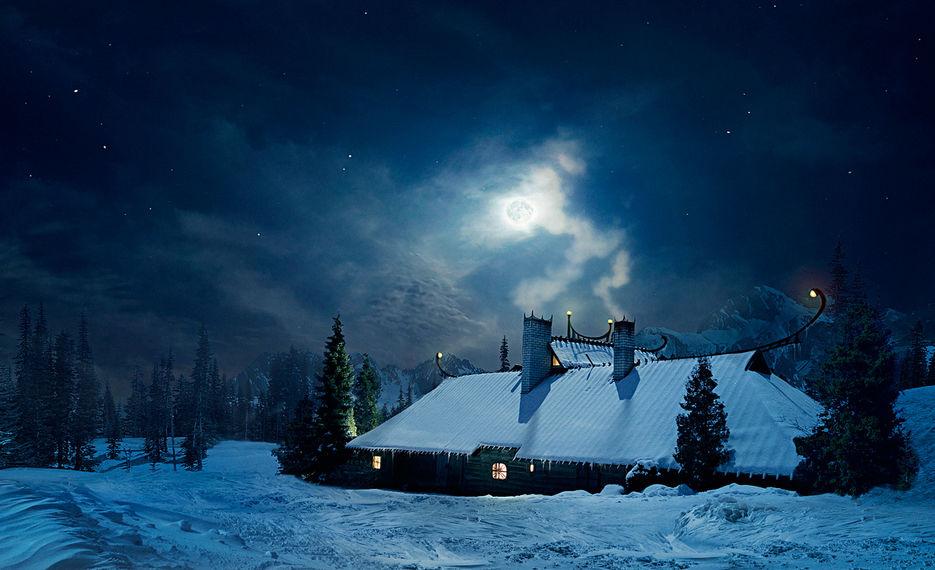 Зимняя ночь картинки красивые и удивительные - подборка 20 фото 7