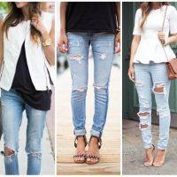Как носить рваные джинсы, с чем они лучше всего сочетаются 1