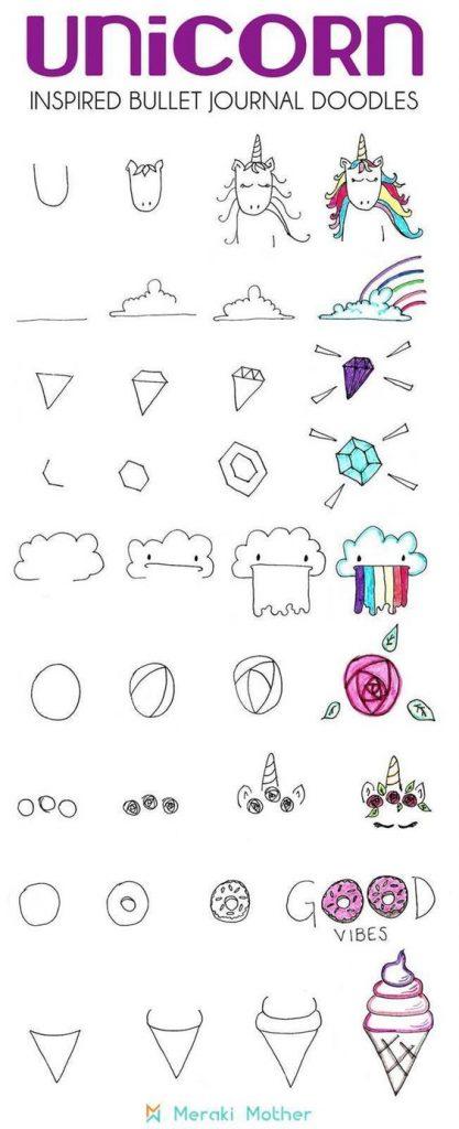 Картинки и рисунки для срисовки в ЛД для девочек - подборка 15