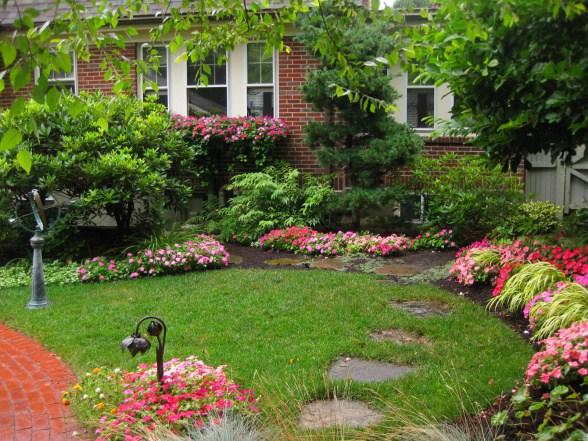 Картинки и фотографии красивого сада, удивительное оформление 11