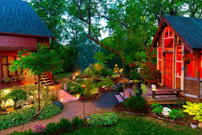 Картинки и фотографии красивого сада, удивительное оформление 14