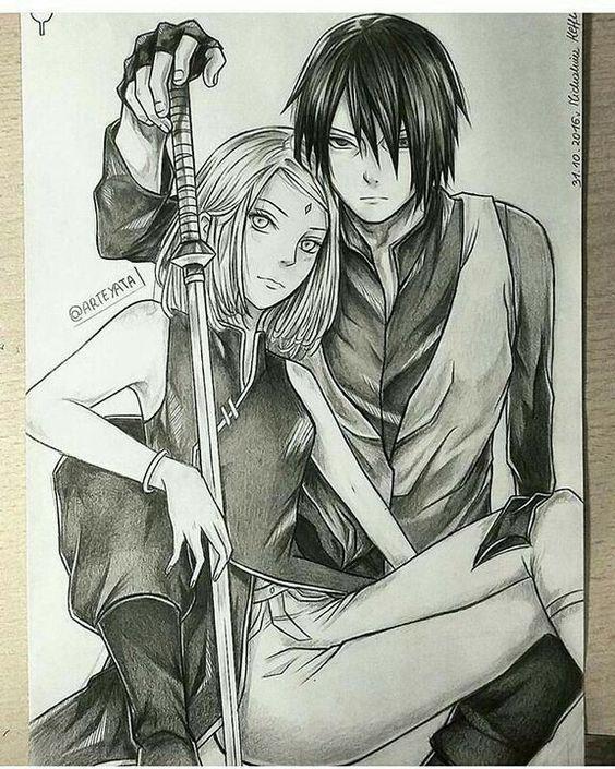 Классные нарисованные картинки героев из аниме Наруто - сборка 13