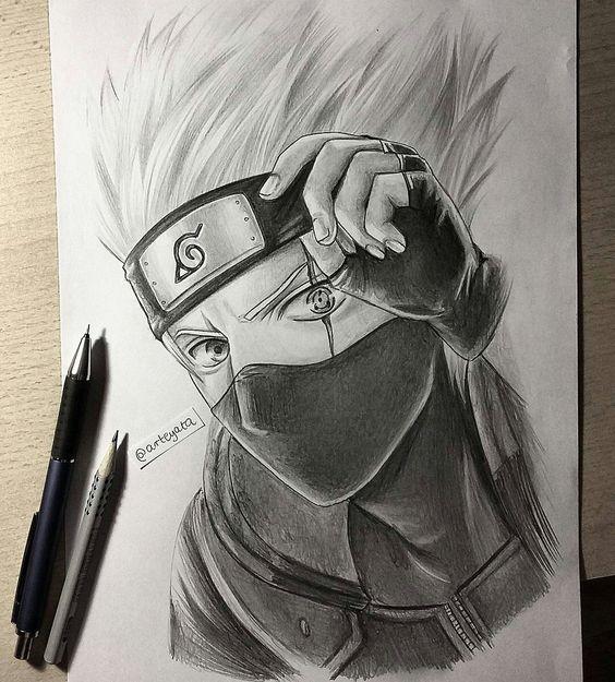 Классные нарисованные картинки героев из аниме Наруто - сборка 3