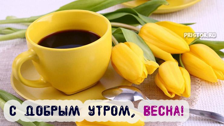 Красивые картинки С добрым утром, весна - приятные открытки 2