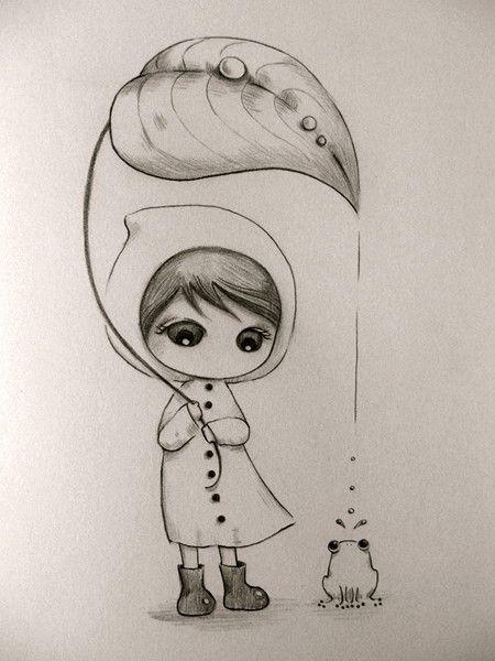 Красивые рисунки простым карандашом - срисовки, картинки 3