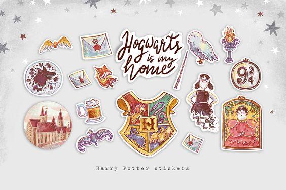 Красивые стикеры и наклейки Гарри Поттер - коллекция 46 картинок 6
