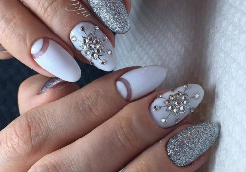 Красивые фото дизайна белых ногтей - подборка 25 картинок 11