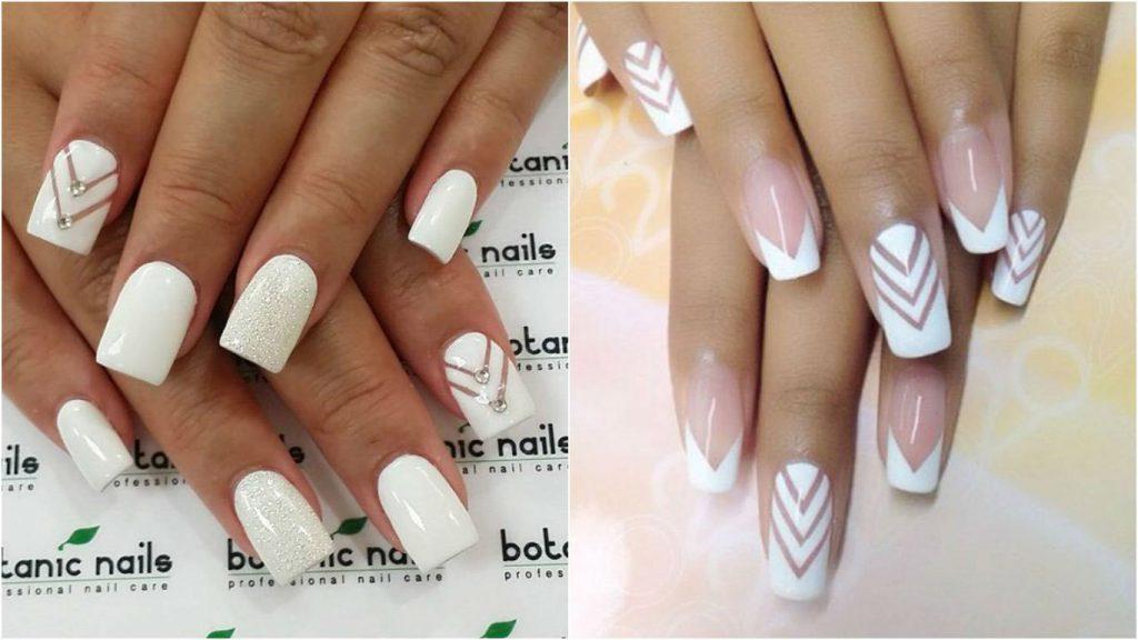 Красивые фото дизайна белых ногтей - подборка 25 картинок 12