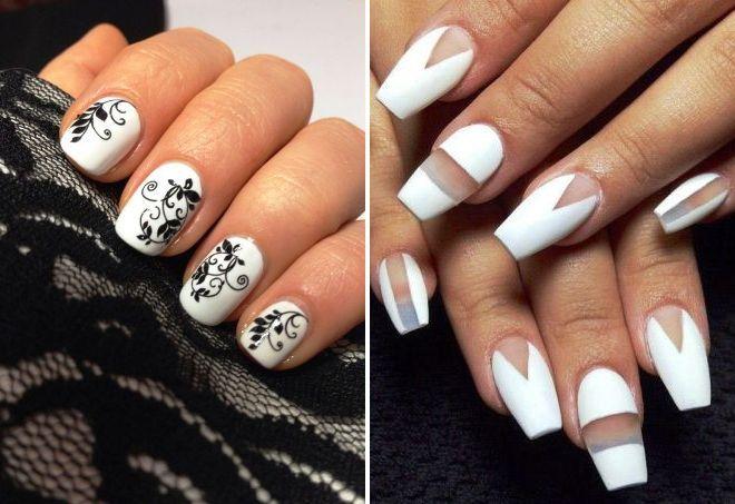 Красивые фото дизайна белых ногтей - подборка 25 картинок 13