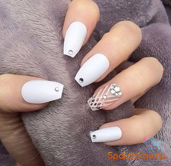 Красивые фото дизайна белых ногтей - подборка 25 картинок 2