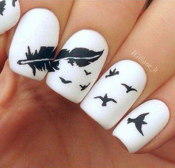 Красивые фото дизайна белых ногтей - подборка 25 картинок 3