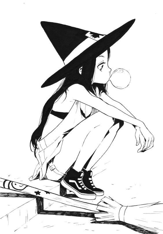 Необычные черно-белые картинки, рисунки для срисовки - сборка 13