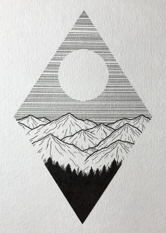 Необычные черно-белые картинки, рисунки для срисовки - сборка 16