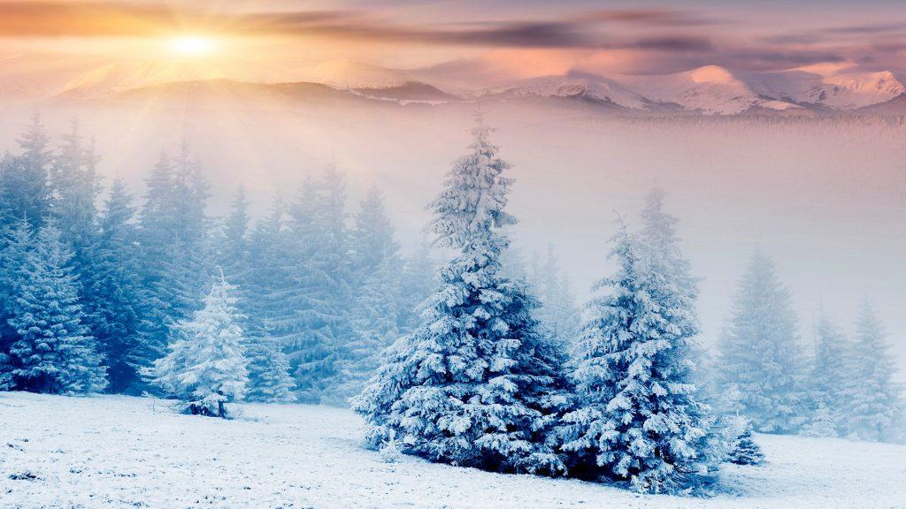 Падающий снег - красивые картинки и обои на рабочий стол 13