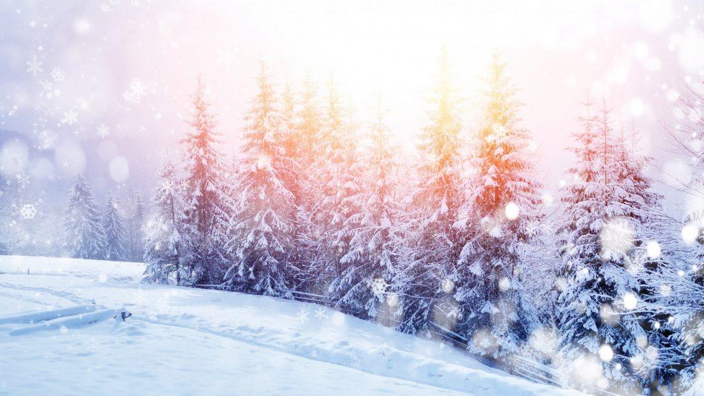 Падающий снег - красивые картинки и обои на рабочий стол 14