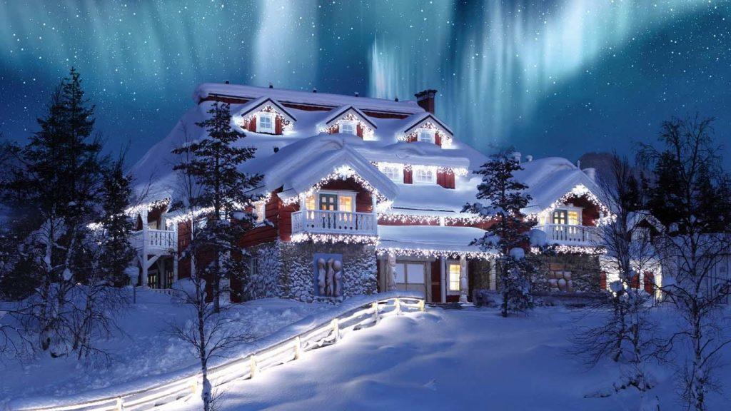 Падающий снег - красивые картинки и обои на рабочий стол 7