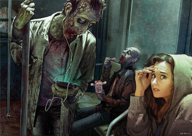Прикольные и интересные картинки с Зомби или про Зомби - сборка 1