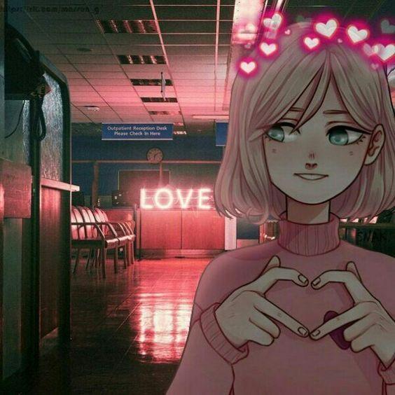 Прикольные и классные картинки девушек с сердечками - сборка 4