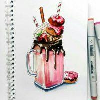 Прикольные и красивенькие рисунки для срисовки детям - подборка 20
