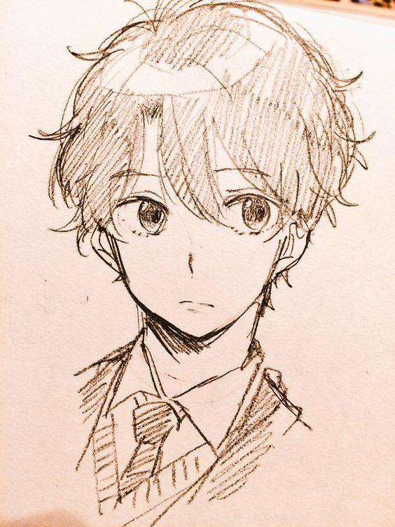 Прикольные и красивые аниме рисунки, картинки для срисовки 1