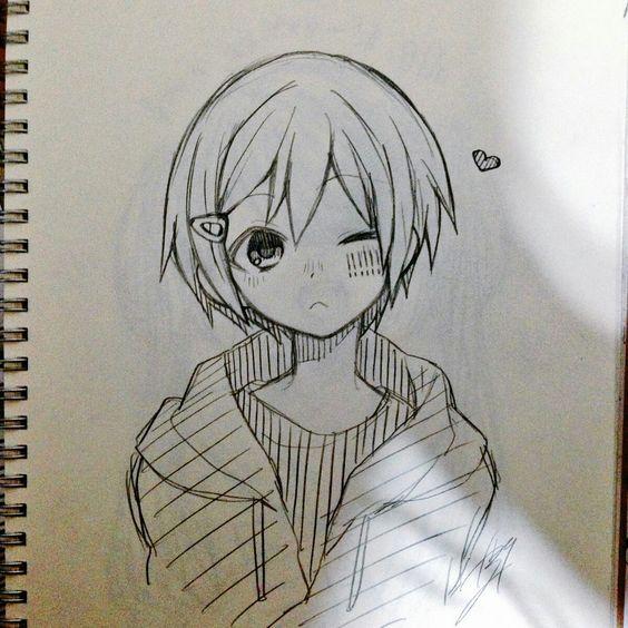 Прикольные и красивые аниме рисунки, картинки для срисовки 11