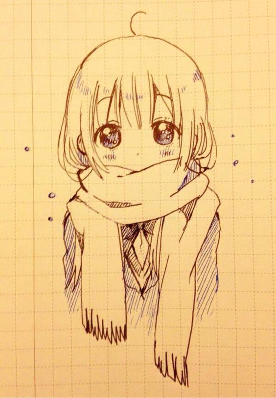 Прикольные и красивые аниме рисунки, картинки для срисовки 12