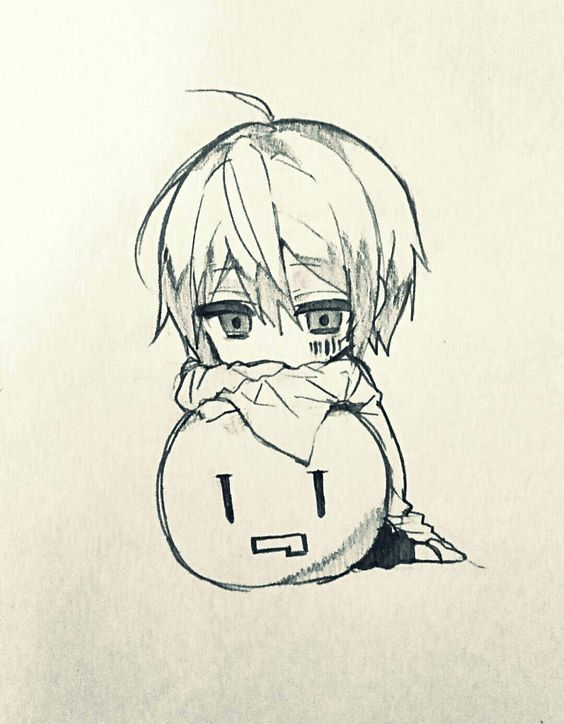 Прикольные и красивые аниме рисунки, картинки для срисовки 16