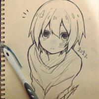 Прикольные и красивые аниме рисунки, картинки для срисовки 20