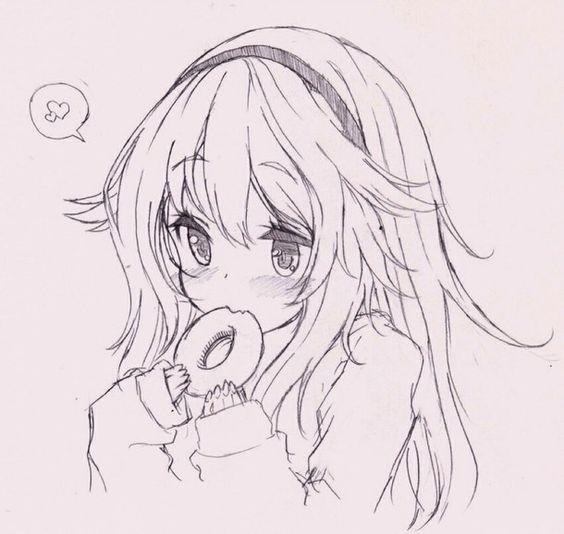 Прикольные и красивые аниме рисунки, картинки для срисовки 4