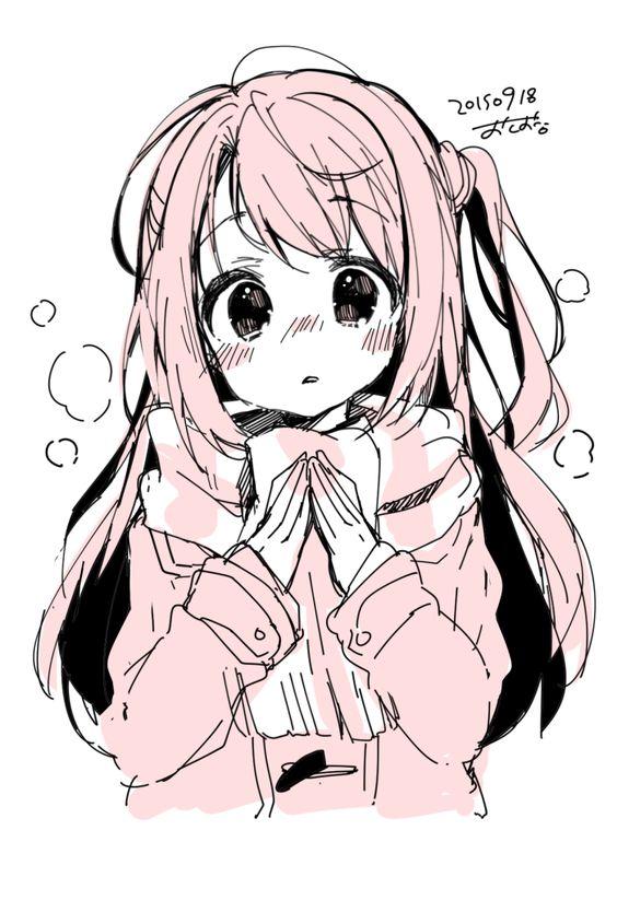 Прикольные и красивые аниме рисунки, картинки для срисовки 6