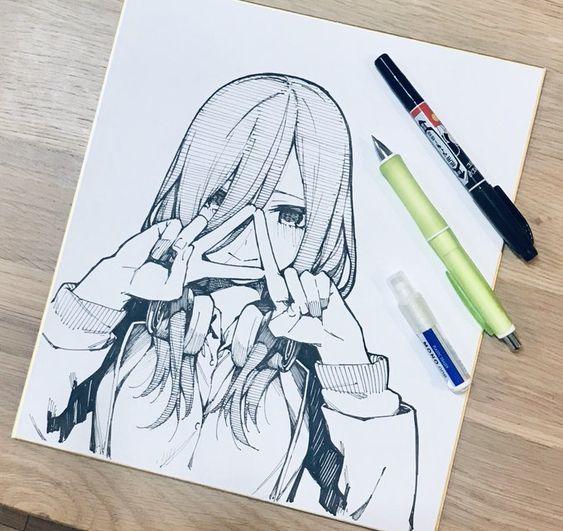 Прикольные и красивые аниме рисунки, картинки для срисовки 8