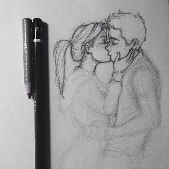 Прикольные картинки для срисовки парень и девушка - сборка 3