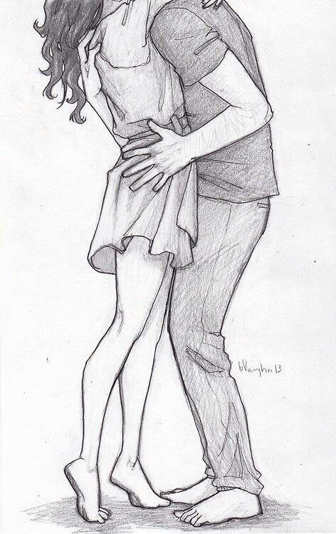 Прикольные картинки для срисовки парень и девушка - сборка 5