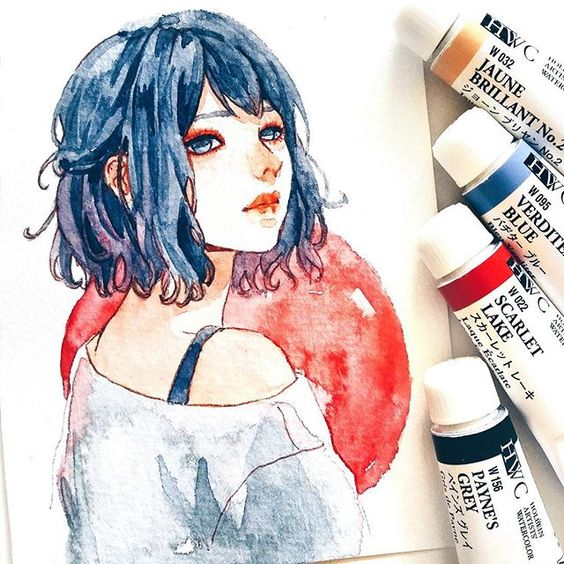 Самые красивые нарисованные арт картинки девушек - сборка 25 фото 11