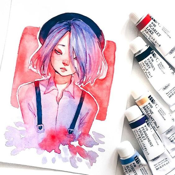 Самые красивые нарисованные арт картинки девушек - сборка 25 фото 16