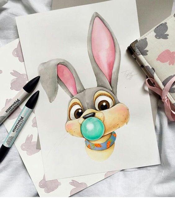 Самые красивые нарисованные рисунки животных - 25 картинок 10