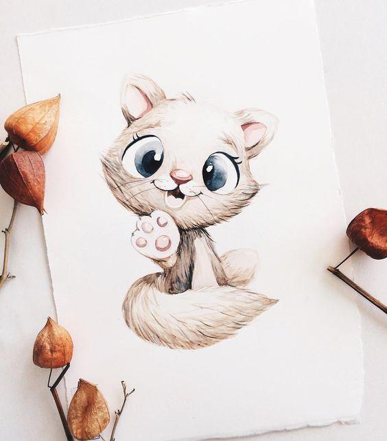 Самые красивые нарисованные рисунки животных - 25 картинок 12