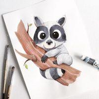 Самые красивые нарисованные рисунки животных - 25 картинок 13