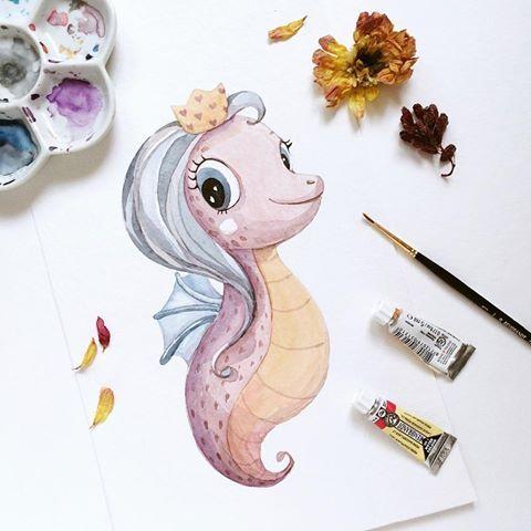 Самые красивые нарисованные рисунки животных - 25 картинок 16