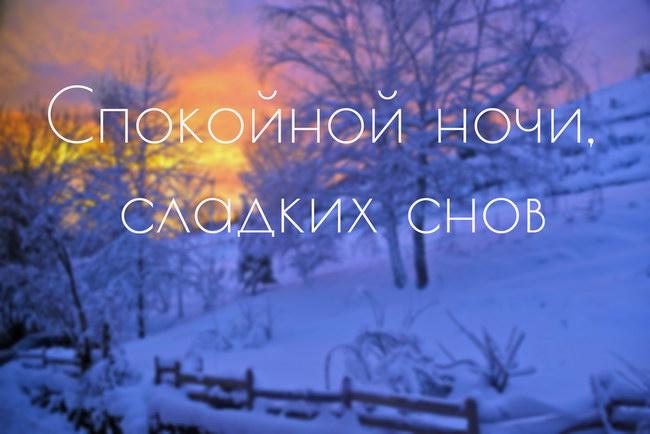 Спокойной зимней ночи - красивые картинки и открытки 8