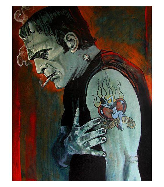 Классные и крутые картинки, арты, фото Франкенштейна - подборка 12