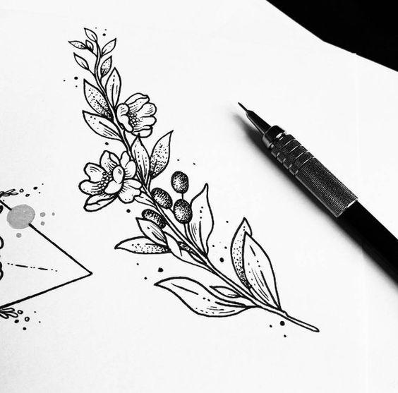 Классные картинки для срисовки тату и татуировки - подборка 12