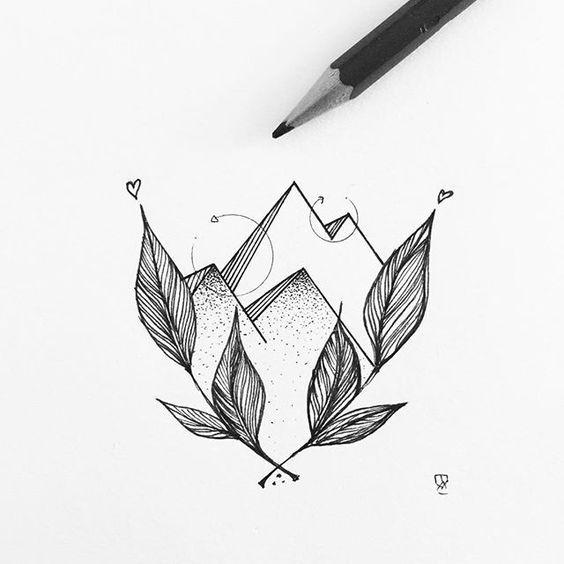 Классные картинки для срисовки тату и татуировки - подборка 18