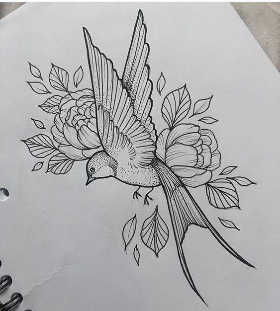 Классные картинки для срисовки тату и татуировки - подборка 25